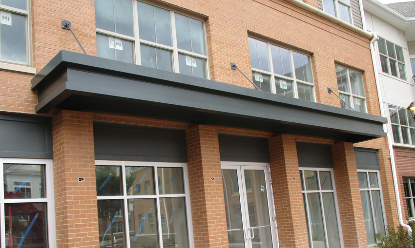 Commercial Building Metal Awnings